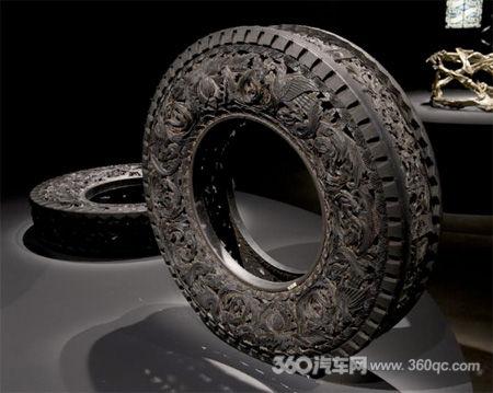 废旧汽车轮胎的好归宿 摇身一变成艺术精品