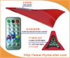 汽车装饰天线鲨鱼鳍式防追尾太阳能LED警示灯(12个LED灯,带遥控器)