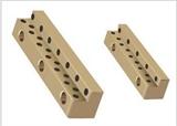 铜基自润滑滑块 V型自润滑滑轨 凸型铜导轨