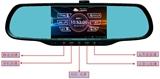 1080P高清行车记录仪4.3寸,车载行车记录仪前后双镜头