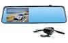 E车E拍 后视镜 前后双摄像头 倒车可视行车记录仪S9+ 超强夜视4.3寸大屏高清 蓝屏