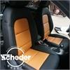 长沙史耐德旗舰店奥迪Q3汽车包国产黑色热带黄拼接款真皮座椅套