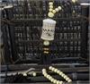 車用香水掛件精油 汽車載高檔桃木佛珠 轉經輪掛飾香水 空瓶創意