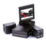 双画面双镜头行车记录仪 高清红外线夜视王  变形金刚行车记录仪