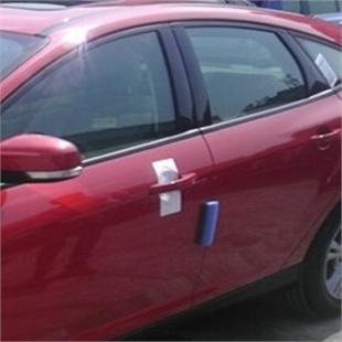 新车出厂车门边的蓝色防撞块 防撞胶 门边胶 门边贴