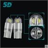 5D汽车LED示宽灯T10 W5W 12V汽车阅读灯白色蓝色欧司朗芯片