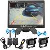 货车集装箱两路摄像头数字无线倒车影像监控系统远程250米