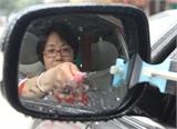 多功能后视镜雨刮杆倒后镜伸缩手把除尘刷安全锤