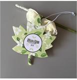 廣州香味印集 出口汽車香片紙質掛飾 樹葉型車載掛飾 香薰風口香紙片